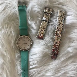 Kate Spade changeable glitter watch band